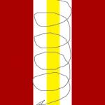 Бело-золотая полоска - схема рисунка иголкой.