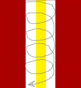 Бело-золотая полоска. Схема рисунка