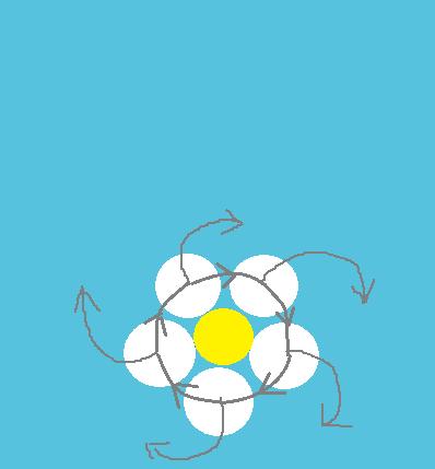 Схема дизайна кувшинки на воде