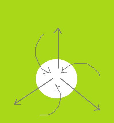 Схема дизайна белых спиралей