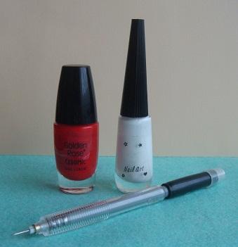Дизайн веточка на ногтях
