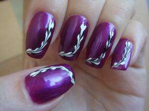 Дизайн ногтей. Черно-белая косичка