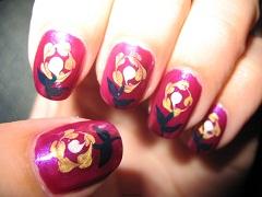 """Дизайн ногтей с помощью иголки """"Полевой цветок"""""""