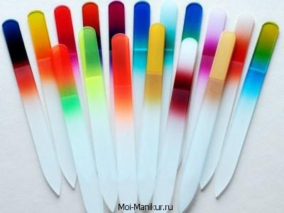 Фото стеклянных пилочек для ногтей.