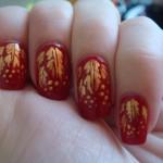 """простой рисунок на ногтях под названием """"Поздняя осень""""."""
