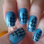 Голубая лагуна на ногтиках.