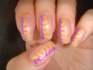 """Художественный дизайн ногтей иголкой """"Нежно розовая идиллия"""""""