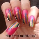 рисунки на ногтях акриловыми красками.