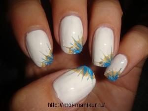 """Дизайн ногтей с помощью иголки """"В уголке"""""""