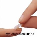 Приклеивание типса к натуральному ногтю