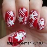 """Дизайн ногтей акриловыми красками """"Белые цветы"""""""