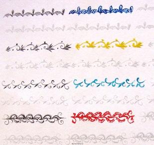 Тренировки по рисованию кружев на специальных картах.