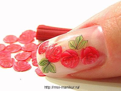 Техника дизайна ногтей с использованием фимо.