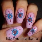 """Дизайн ногтей с помощью иголки в домашних условиях """"Полярная звезда"""""""
