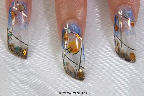 Лак для ногтей аквариум