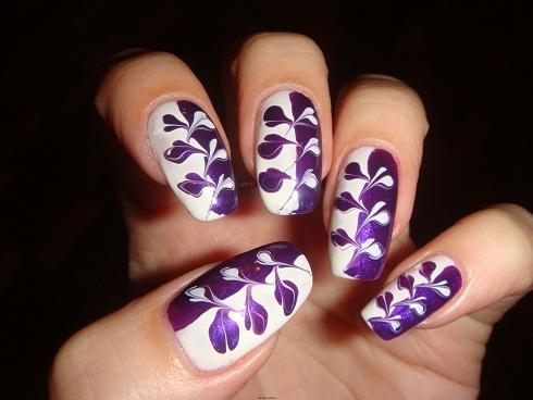 """Дизайн ногтей в домашних условиях с помощью иголки """"Перекрестная шнуровка""""."""