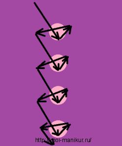 """Схема дизайна ногтей иголкой """"Абстракция"""""""