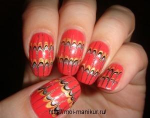 """Дизайн ногтей с помощью иголки """"Параллели"""""""