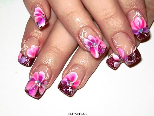 Фото аквариумного дизайна ногтей на дому.