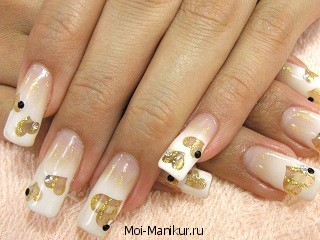 Фото гелевого дизайна ногтей.