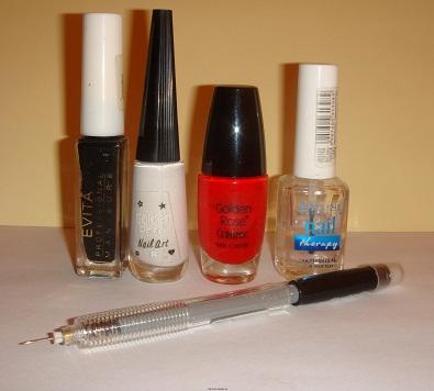 """Необходимые инструменты для дизайн ногтей иголкой """"Вложенные овалы""""."""