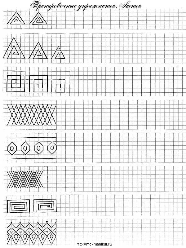 Рисуем линии на тренировочной карте для росписи ногтей