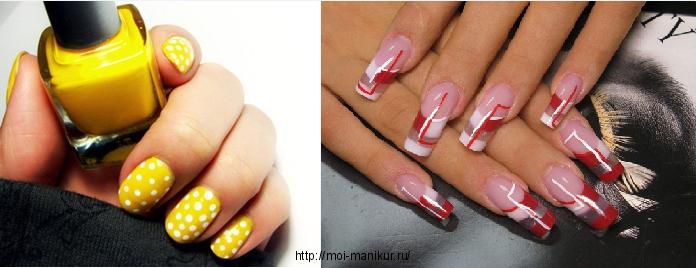 Геометрия кругов и линий в дизайне ногтей 2012.
