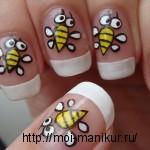 """Дизайн ногтей акриловыми красками """"Веселые пчелки""""!"""