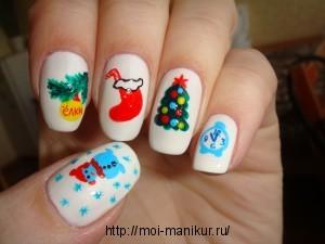 """Дизайн ногтей к Новому Году """"Новогодняя сказка"""""""