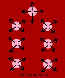 """Наглядная схема для дизайна иголкой """"Звездочки"""""""