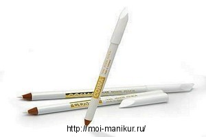 Отбеливающий карандаш для ногтей.