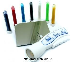 Материалы для создания бархатных ногтей.