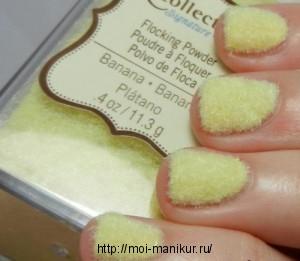 Меховой свитер на ногтях