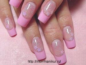 Коррекция нарощенных ногтей гелиевых и акриловых