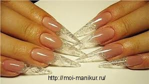 Техника хрустального наращивания ногтей