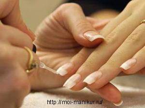 Техника коррекции нарощенных ногтей