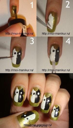 фотоурок дизайн ногтей акриловыми красками