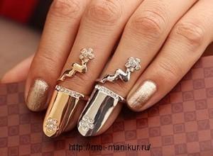 Новинка моды - кольца на ногти