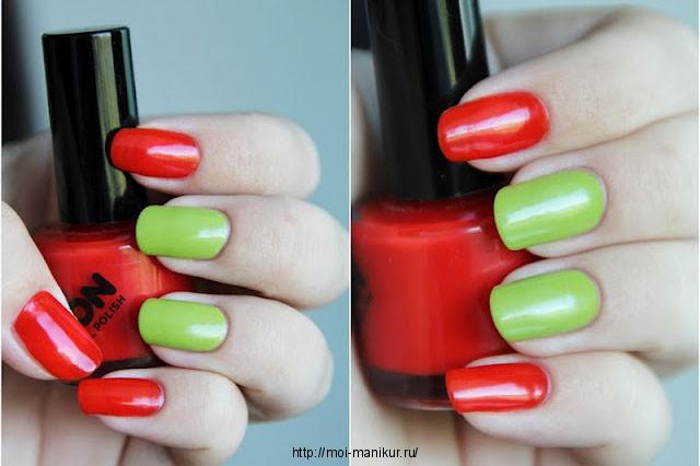 Цвет маникюра два ногтя другого цвета