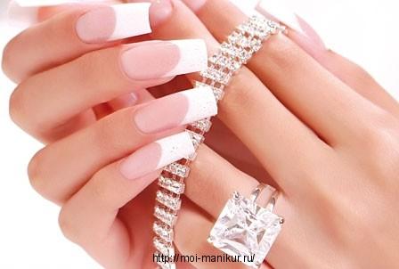 Способы моделирования френча в наращивании ногтей