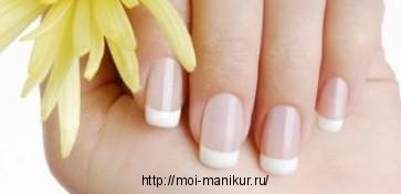 Наращивание ногтей: френч
