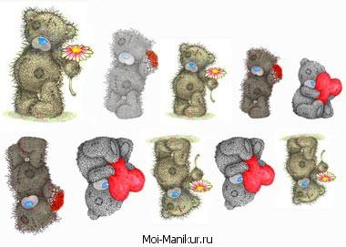 дизайн с мишками Тедди