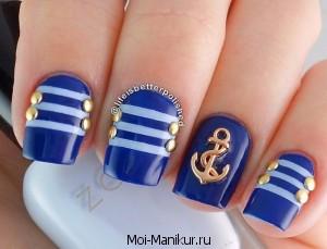 дизайн ногтей с биндисами