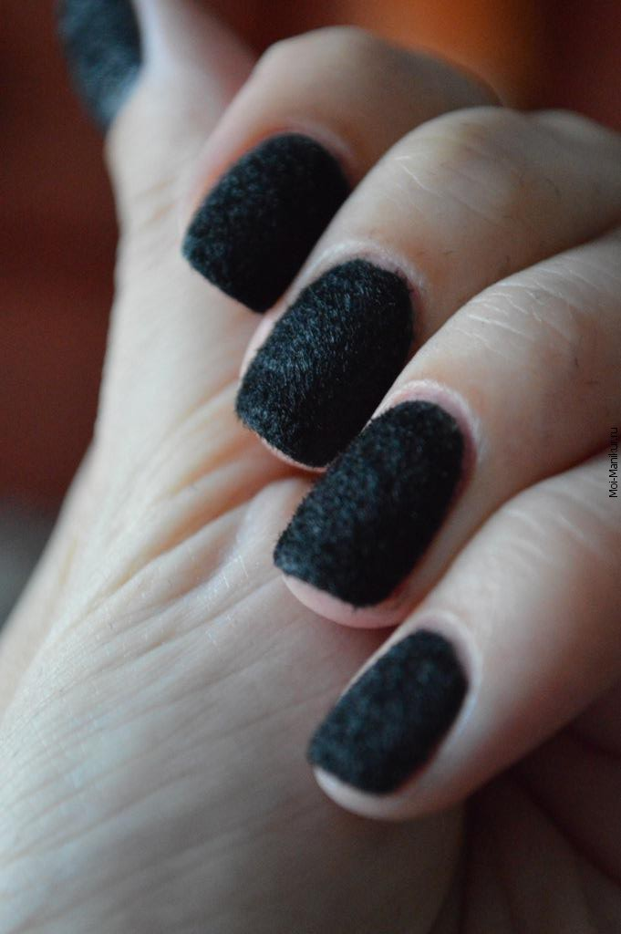 бархатные ногтей, видеоурок