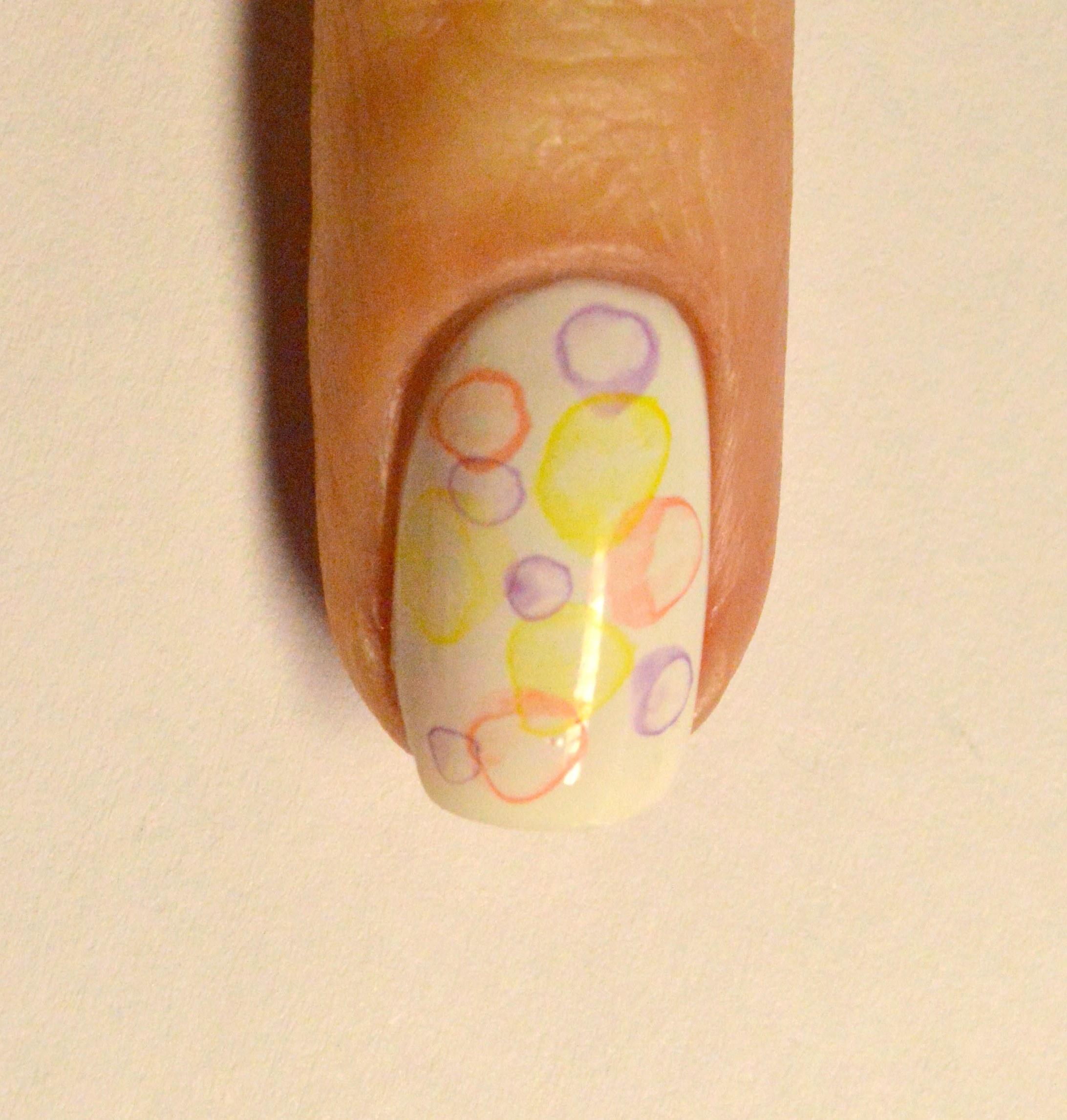 Рисунки на ногтях с шариками фото