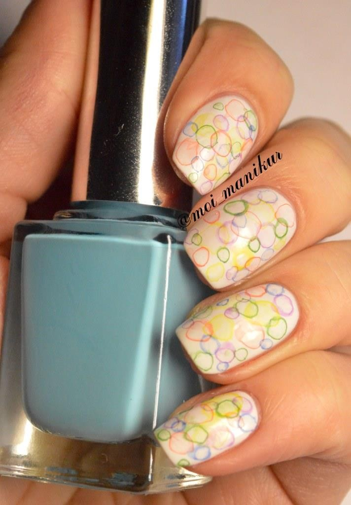 """Дизайн ногтей акрилом """"Дизайн ногтей акриловыми красками """"Мыльные пузыри"""""""