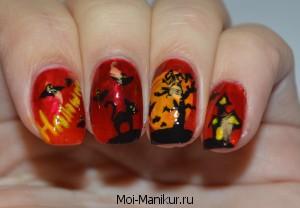 Дизайн ногтей на Halloween