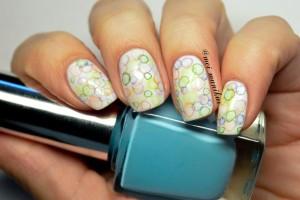 """Дизайн ногтей акриловыми красками """"Мыльные пузыри"""""""
