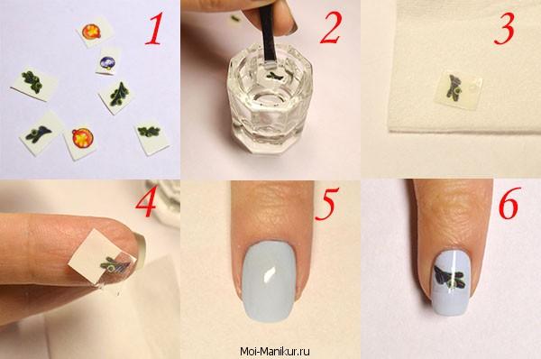 Дизайн ногтей на новый год 2015 с помощью слайдер наклеек
