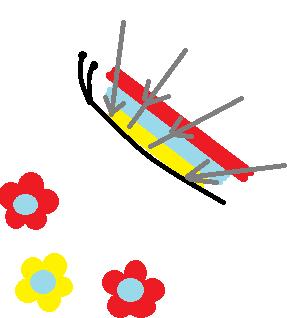 схема рисунка бабочки игоклкой